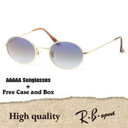 f9f111656e AAA Retro Oval Sunglasses men women Luxury Brand Alloy frame uv400 lens Celebrity  Eyewear Vintage sun Glasses with cases and box