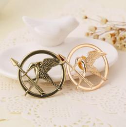 broches de sensibilisation en gros Promotion The Hunger Games Attrape le feu Mockingjay Gold Broche Pin Broches Broches du film pour les femmes hommes Unix bijoux de bijoux Bronze Laugh Bird