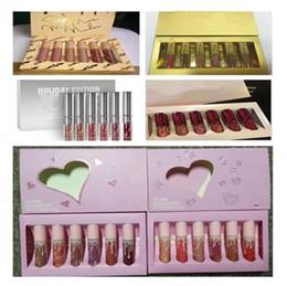 KY Cosméticos Envíeme más Desnudos Lápiz labial Cumpleaños San Valentín Navidad Edición navideña Kit de brillo de labios 6pcs / set desde fabricantes