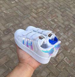 2019 diseñador de zapatos casuales niños Zapatos deportivos de diseño de alta calidad zapatillas de deporte para niños Calzado casual STAN SMITH SNEAKERS Niños CASUAL zapatillas SUPERSTAR 25-35 rebajas diseñador de zapatos casuales niños