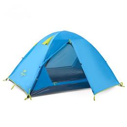 Doppio strato professionale della tenda della famiglia della tenda della famiglia di alluminio della doppia porta anti-UV 3 persone tende la pioggia per la spiaggia di campeggio di trekking da