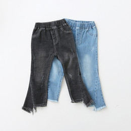 Wholesale Winter Jeans Kids - Spring Kids Girls Denim Jeans Baby Girls Fashion Tassel Pants Babies Casual Trouser 2018 Kids Clothing