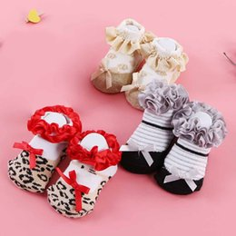 Wholesale Sweat Winter Children - Autumn Winter Kids children Lace Socks Bow Cotton Absorbs Sweat Breathable Socks for Baby Girls