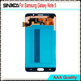 Wholesale galaxy note screen assembly - Best quality For Samsung Galaxy Note 5 Orginal LCD Display Touch Screen Assembly With Frame ,Free DHL Shipping