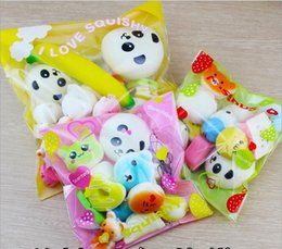 Wholesale Bread Toast Squishy Charm - 10pcs Kawaii Squishies Bun Toast Donut Bread for cell phone Bag Charm Straps Wholesale mixed Rare Squishy slow rising lanyard scented
