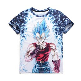 Wholesale Dragon Ball Z Cooler - Casual Hip Hop Mens t shirt Cool Dragon Ball Z Short Sleeve Funny 3D Print T-Shirt Summer Tops Tees Plus Size