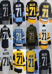 Wholesale ice hockey outlet - 2017 Stanley Cup Champions Patch Factory Outlet Mens Pittsburgh 71 Evgeni Malkin Home Away Alternate Cheap Ice Hockey Jerseys