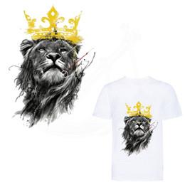 Transferencia de camisetas online-Estilo de tinta caliente Lion King parche de 25 * 17.5 cm de hierro en parches para ropa DIY camiseta con capucha chaqueta Grade-A Etiquetas engomadas de transferencia térmica