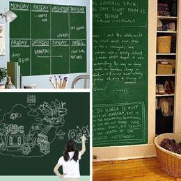 Wholesale Green Wall Board - 45x200cm Chalk Board Stickers Removable Vinyl Draw Decor Mural Decals Art Chalkboard Wall Sticker for Children Kids Rooms GGA101 20pcs