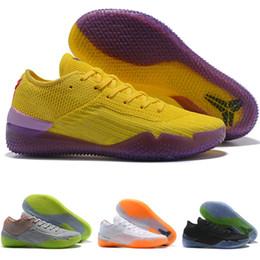 separation shoes 6e322 b7cd1 2018 Neue Kobe A. D. NXT 360 Gelb Streik Mamba Tag bryant Multicolor Herren Basketball  Schuhe männer Wolf Sport Turnschuhe Größe 7-12