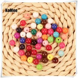 llavero redondo de acrílico al por mayor Rebajas Envío Gratis 10mm 500 unids / lote Granos de Acrílico Redondos de Perlas de Plástico Sueltas Accesorios de La Joyería