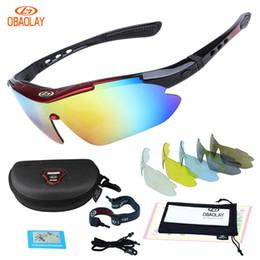 OBAOLAY Polarized UV400 Ciclismo Óculos De Sol Da Bicicleta Da Bicicleta Eyewear Goggle Equitação Esportes Ao Ar Livre Óculos De Pesca 5 Lente de