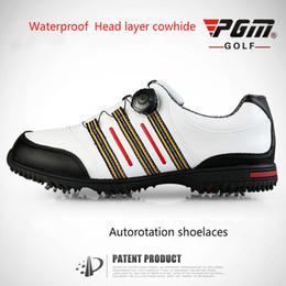 dc6b57ef3c PGM sapatos de golfe PGM GOLF sapatos dos homens da marca unha rotativa  dispositivo de bloqueio sapatos de marca de golfe promoção