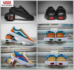 Wholesale black wang - 2018 New VANS Golf Wang Old Skool Pro Old Skool Designer Shoes zapatillas de deporte Women men Black Green Casual Canvas Sports Sneakers