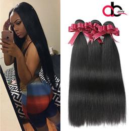 Wholesale Human Hair Weave Malaysia - Mink 8a Peruvian virgin Straight Hair 3Bundles Hnman hair weaves Unprocessed 100% Peruvian Malaysia Indian Straight Human Hair Extensions