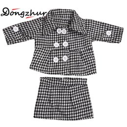 "Wholesale Wholesale 18 Inch Doll Accessories - Dongzhur Black And White Fashion Doll Jacket For 18 Inch American Girl Doll Clothes Children's Dress Up 18"" American Girl"