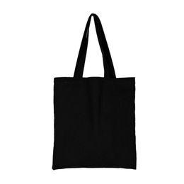 Верхние пляжные сумки онлайн-Women Girls Canvas Handbag Shoulder Bag Tote Top-handle Bag Shopper Beach Shopping Black Wholesale Drop Shipping #Y