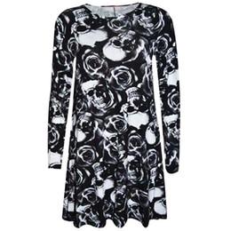 15096ce44c Halloween Gothic Hip Hop Black Cool Chic Women Dresses Slim Hot Cheap 3D  Skull Print Girls Gray Sexy Casual Female Dress