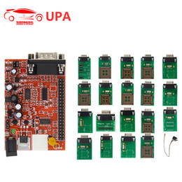 Wholesale Upa Adapters - New UPA USB Programmer for 2014 Version Main Unit with Full Adapter UPA-USB Programmer V1.3 OBD2 ECU Chip Tuning Tool