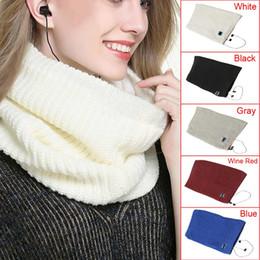 Nouveau Mode Femmes Sans Fil Bluetooth Laine Cou Réchauffeur Écharpe Douce Avec Casque Casque Haut-Parleur Mic Smart Design MMA780 ? partir de fabricateur