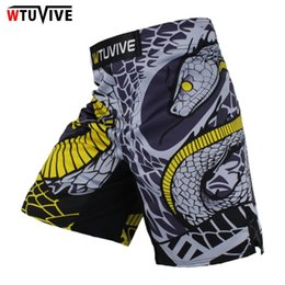 muay thai sanda Promo Codes - Wtuvive Mma Boxing Fitness Cats Fighting Sanda Sports Shorts Loose High Quality Shorts Mma Muay Thai Clothing Mma