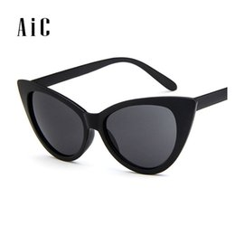Wholesale Mix Deck - 2017 New Cat Eye Sunglasses for Women and men Brand Designer Fashion Twin Beam Sunglasses Double-Deck Alloy Frame UV400