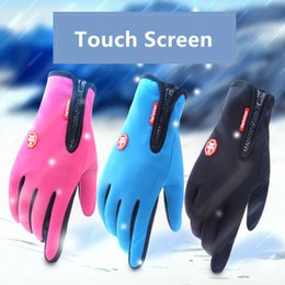Wholesale Wholesale Thermal Gloves - Colorful of Windstopper Outdoor Sports Snowboard Skiing Riding Bike Cycling Gloves Windproof Winter Gloves Thermal Warm Touch Screen Gloves