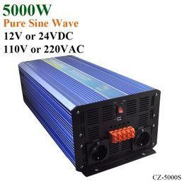 Wholesale Pv Solar Systems - 5000W Off Grid Inverter, 12V 24VDC 100 110 120VAC or 220 230 240VAC Pure Sine Wave PV Inverter for Wind or Solar Power System