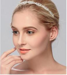 2019 couronne indienne de cristal Européenne et Américain quotidien dames bandeau bandeau mode tendance strass couronne de mariage bijoux plaque cheveux bandeau en gros