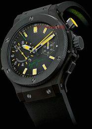 Wholesale F1 White - Luxury Fashion Big Senna Wristwatch black rubber Men F1 Brand Automatic movement Watch Bang men Mechanical men's Watches sports wristwatches