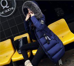 vestes à col montant imperméables Promotion 2018 Nouvelle Mode Hiver Veste Femmes Mince Casual Haute Qualité Grand Col De Fourrure Femme Épaulette Manteau D'hiver Pour Femmes Outwear