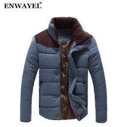 cappotto di giacca a tuta Sconti ENWAYEL Autunno Inverno Stand colletto giacca uomo Parka trapuntato imbottito giacca a vento imbottita maschile giacche uomo e cappotto Parka soprabito
