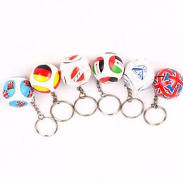 Anelli portachiavi online-Calda vendita calcio portachiavi ciondolo borsa accessori coppa europea fan souvenir regalo portachiavi arti e mestieri T3I0204