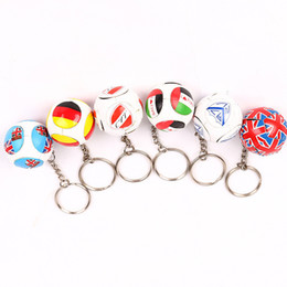 Souvenir europei online-Calda vendita calcio portachiavi ciondolo borsa accessori coppa europea fan souvenir regalo portachiavi arti e mestieri T3I0204