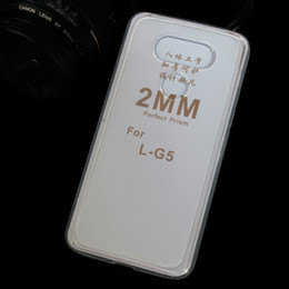 Wholesale Transparent Bag Material - For LG G5 Silicone Phone Case TPU Material 2mm For LG Q5 K7 2017 Thickness Peripherals OPP Bag Packaging DHL Global Delivery