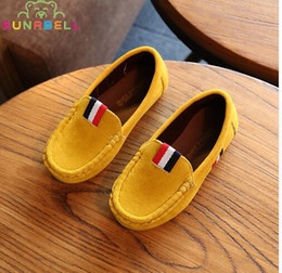 Wholesale Loafer Shoes Kids - 2017 New Spring Boys Children Shoes Kids Boys PU Leather Shoes Kids Moccasin Loafers Toddlers Casual Single Flats Sneakers C301