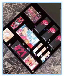2019 grandes conjuntos de maquiagem 2018 Conjunto de maquiagem coleção de aniversário 21 conjunto de batom aniversário Conjunto de kit de aniversário caixa grande sombra paleta desconto grandes conjuntos de maquiagem