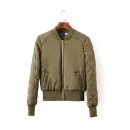 Primavera Autunno Donna Lady Army Green Giacche Fashion Basic Bomber Jacket manica lunga cappotto casual collo O-collo Slim Fit Capispalla da