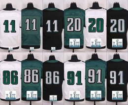 Wholesale Branded Name - 2018 Super Bowl Pro Jersey With Name Brand logo Men 9 NF 11 CW 17 AJ 20 BD Green Black White Blue Lll Limited free shipping 100% Embroidery
