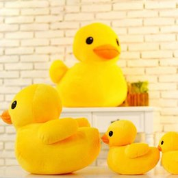 Wholesale cute duck plush - Cute Giant Rubber Duck Plush Dolls Birthday Gifts Stuffed Pillow Plus Animals Stuffed Animal Soft Plush Creative toys for baby gift