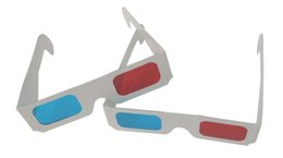 Wholesale 3d Glasses Red Blue Paper - Hot Items Paper 3D Glasses 3D Virtual Video View Anaglyph Red Cyan Red Blue Glass Free Shipping