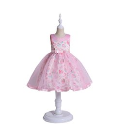 Wholesale Ice Cream Tutu - Retail 2018 Summer New Girl Princess Dress Ice cream Candy print Sleeveless Dress Children Clothing 3-10Y E1788