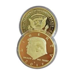 Insigne de pièce de monnaie en métal argenté or 45ème président américain Donald Trump ? partir de fabricateur