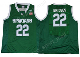 2021 il pullover di pallacanestro di stile New Style Men College 22 miglia Bridges Jersey Michigan State Startan University Jerseys Green Team Pallacanestro Sport uniforme Sport di alta qualità