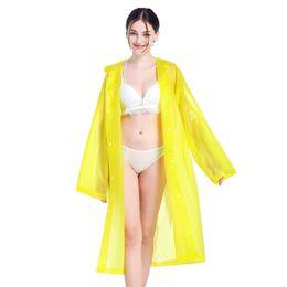 batteria coreana Sconti Rain Gear Womens Adults Long Raincoat Waterproof Portable Rainwear Female Female Summer Hiking Poncho da arrampicata