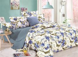 Wholesale black flower comforter - WINLIFE 3 pieces Duvet Cover Flowers Print Comforter Cover Set