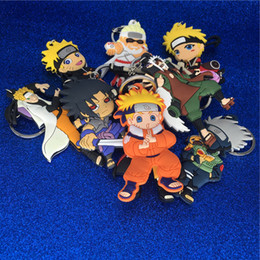 Wholesale new figures - New Naruto Figure Keychain Plastic PVC Mini Figures Naruto Uzumaki Key Chain Key Rings Hold Pendants Women Men Fashion Jewelry Drop Shipping