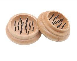 Neue zwei Ebene Runde Holz Rauch Smog 55mm Metall Nadel Zahn Holz Rauchfeuerzeug von Fabrikanten