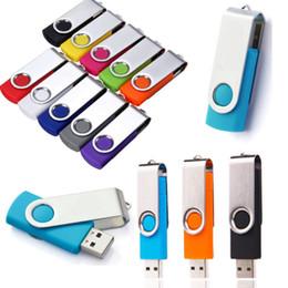 memory stick 4gb Desconto 7 cor Flash Memory Stick Pen Drive U Disco Giratório Chave 64 GB 32 GB 16 GB 8 GB 4 GB USB 2.0 Frete Grátis