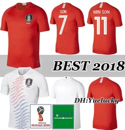 Wholesale h cup - 2018 World Cup H M SON jersey soccer jerseys home away SON national team football shirt TOP THAI QUALITY